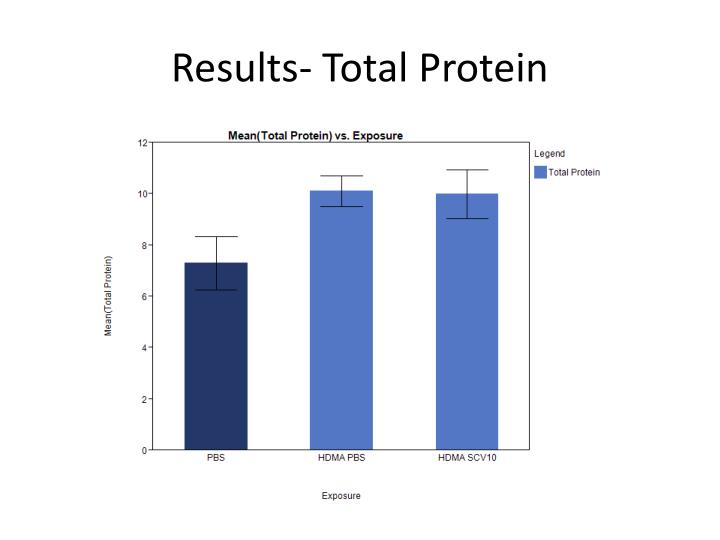 Results- Total Protein
