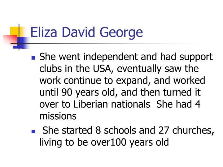 Eliza David George