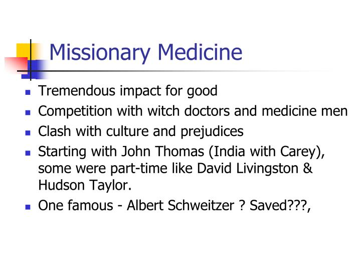 Missionary Medicine