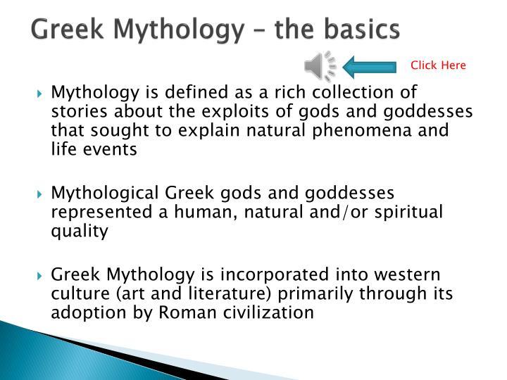 Greek Mythology – the basics