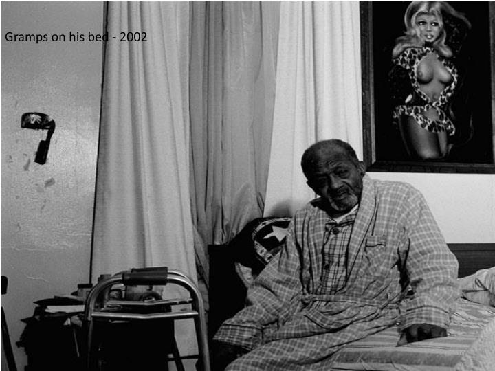 Gramps on his bed - 2002