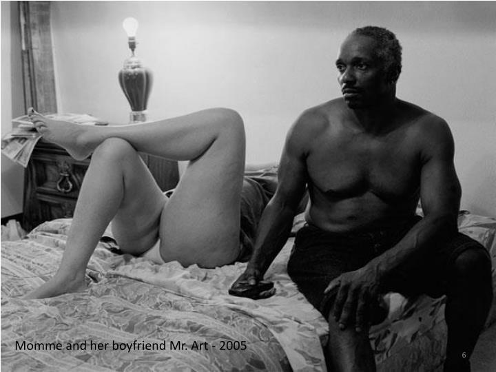 Momme and her boyfriend Mr. Art - 2005