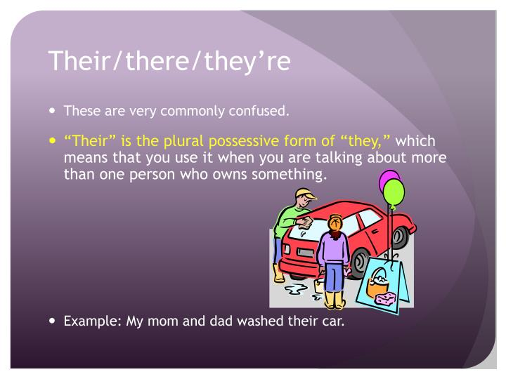 Their/there/they're