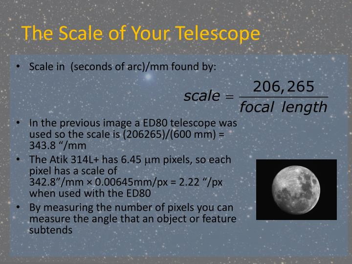 The Scale of Your Telescope