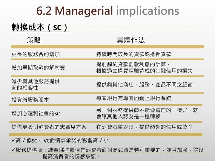 6.2 Managerial
