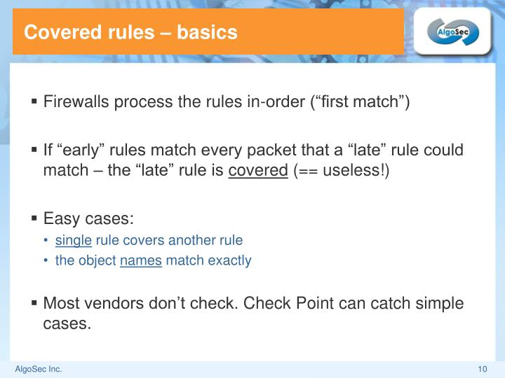 Covered rules
