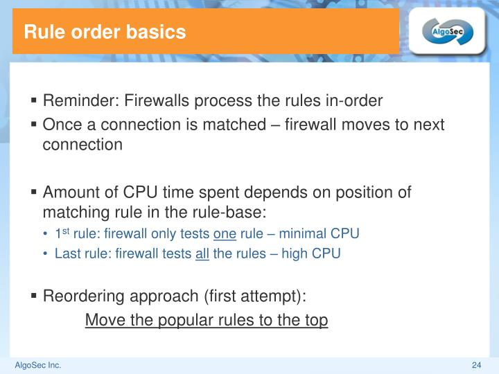 Rule order basics