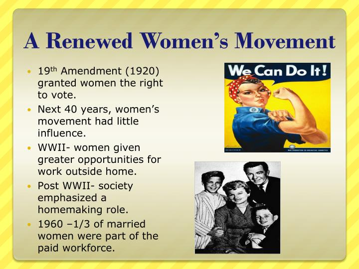 A Renewed Women's Movement