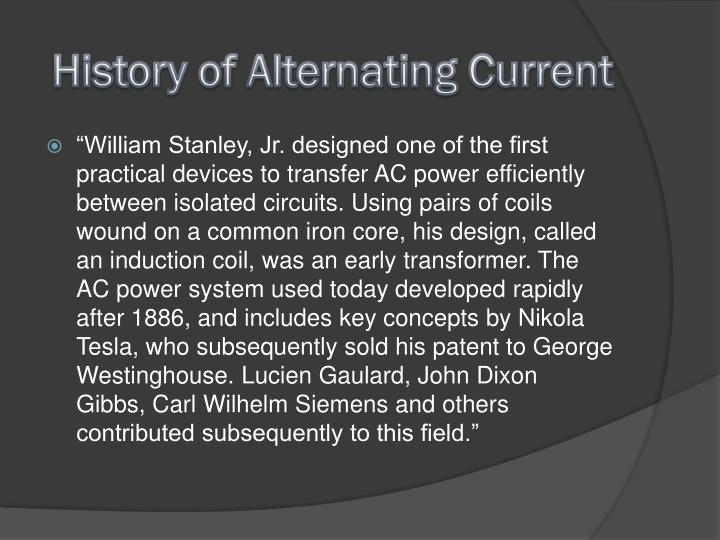 History of Alternating Current