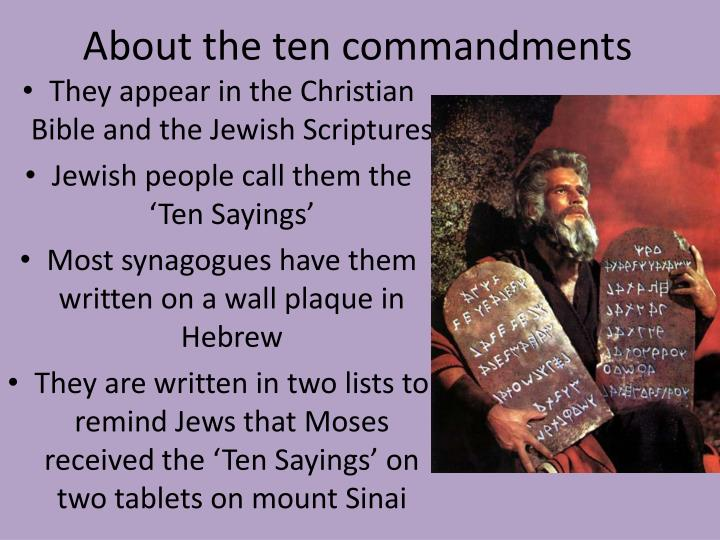 About the ten commandments