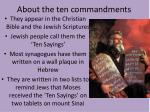 about the ten commandments