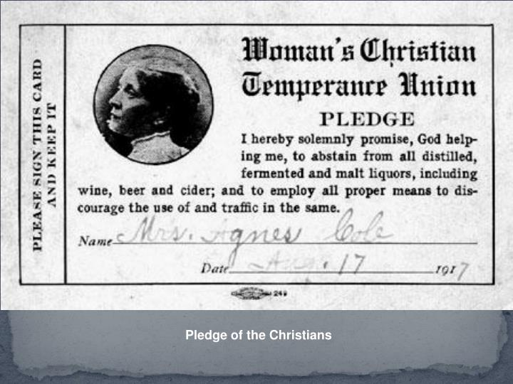 Pledge of the Christians