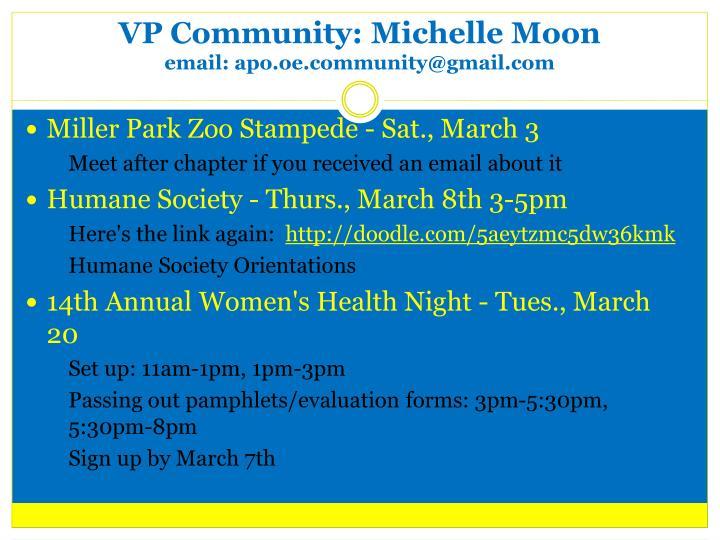 VP Community: Michelle Moon