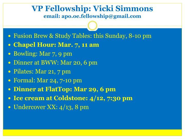 VP Fellowship: Vicki Simmons
