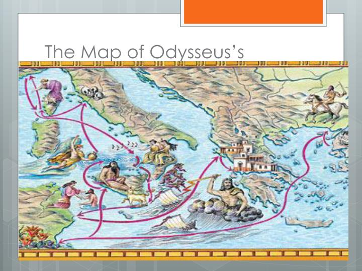 The map of odysseus s journey