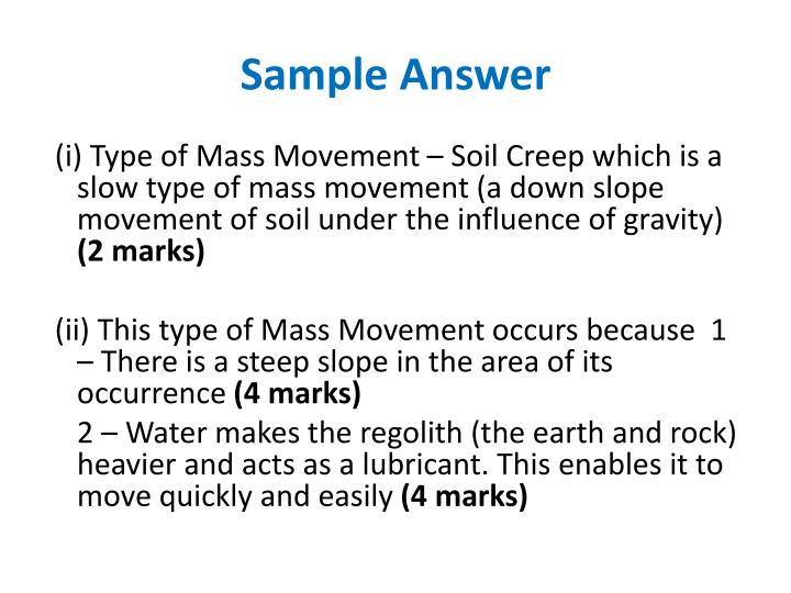 Sample Answer