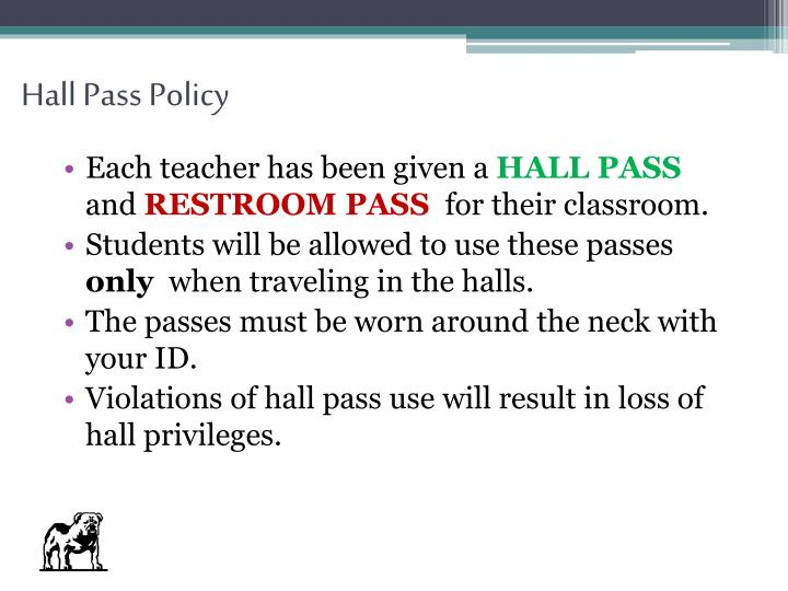 Hall Pass Policy
