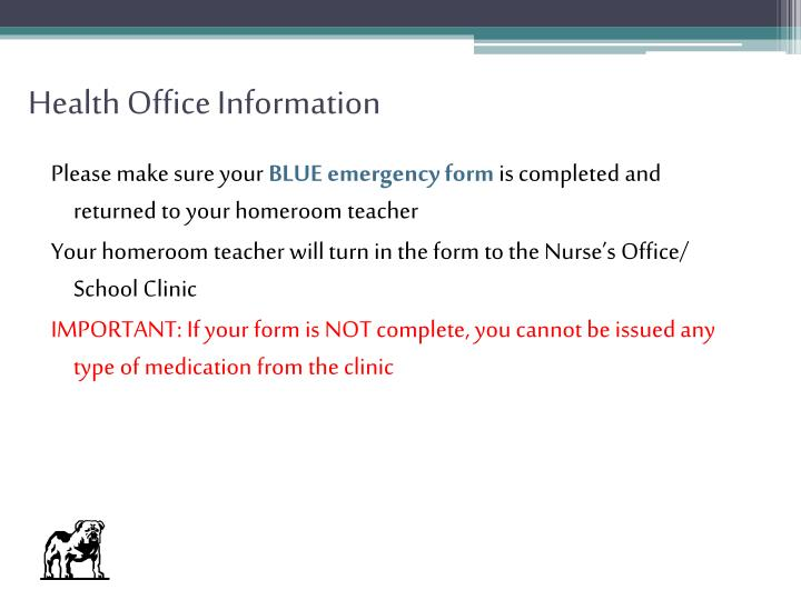 Health Office Information