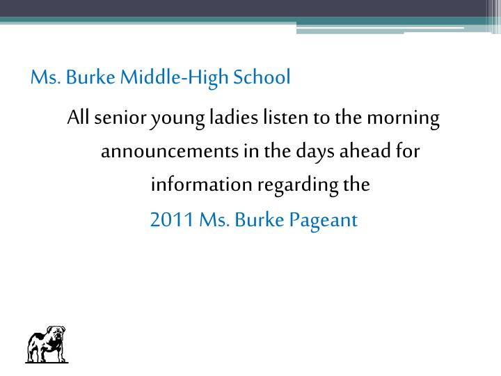 Ms. Burke Middle-High School
