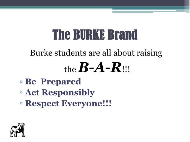 The BURKE Brand