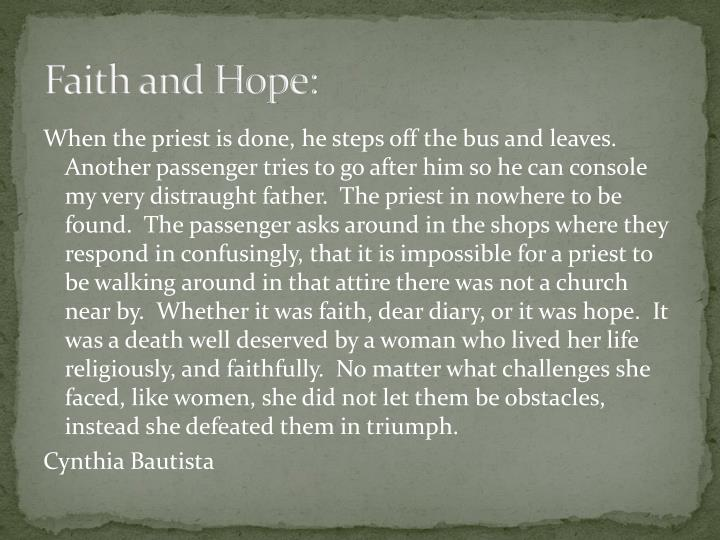 Faith and Hope: