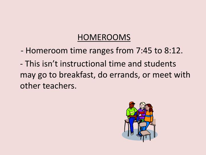 HOMEROOMS