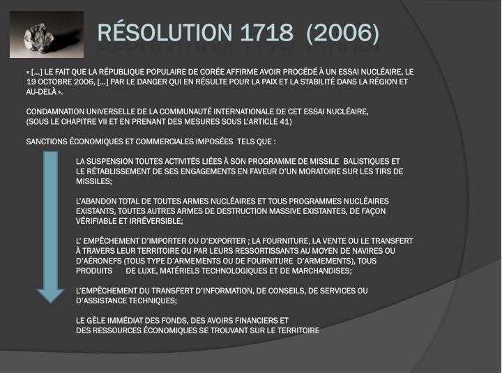 Résolution 1718  (2006)