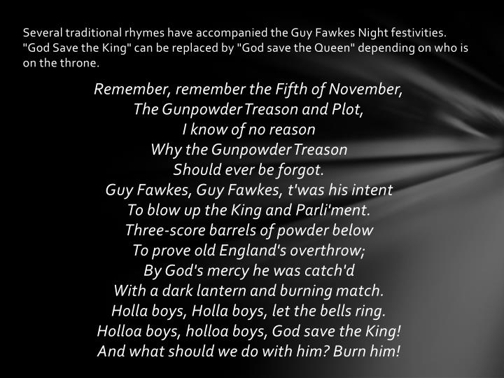 guy fawkes presentation One 10 page guy fawkes guide - help your children to learn about the life of guy fawkes with our pdf guide and editable powerpoint presentation four guy fawkes diary templates - what would guy fawkes have written in his diary record your ideas on this handy template a ten page guy fawkes image pack - a.