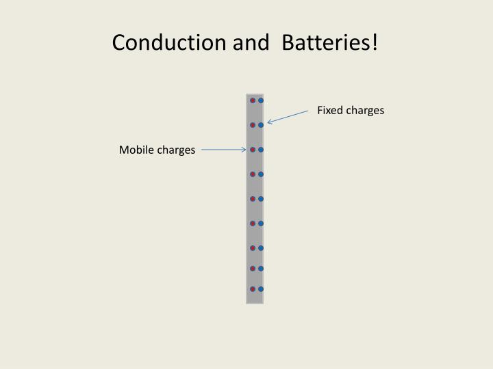 Conduction and  Batteries!