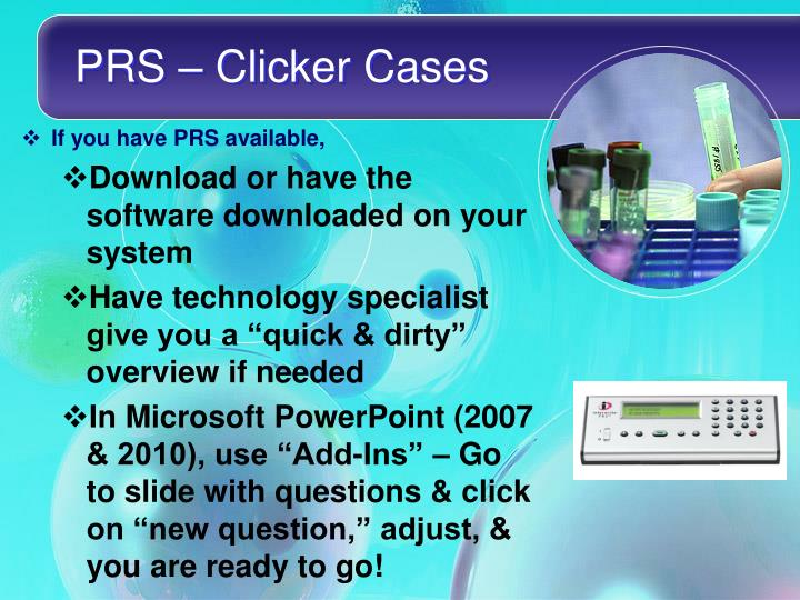 PRS – Clicker Cases