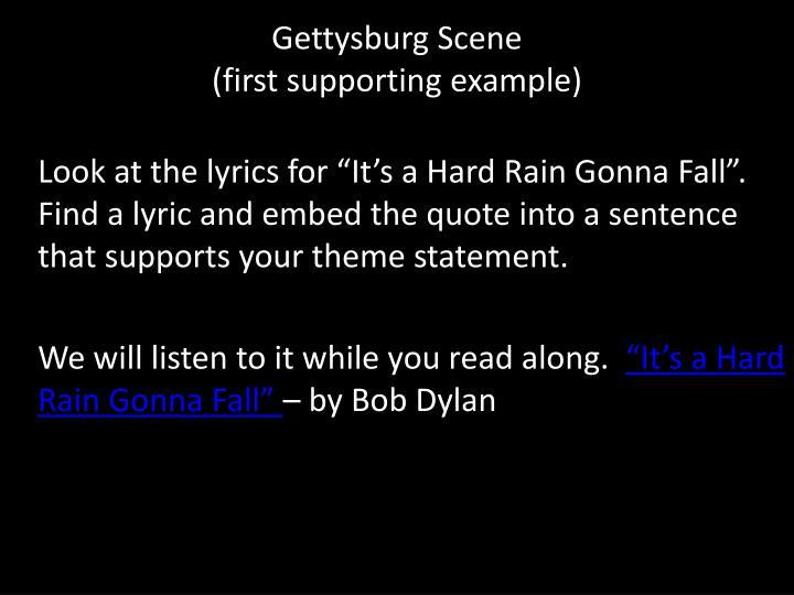 Gettysburg Scene