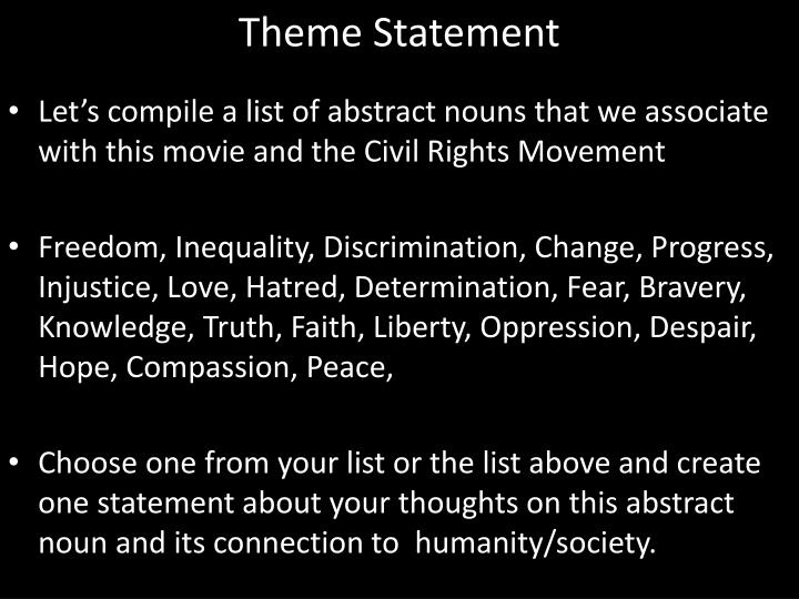 Theme Statement
