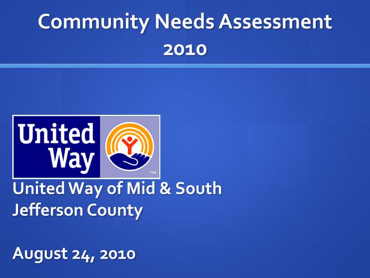 United way of mid south jefferson county august 24 2010