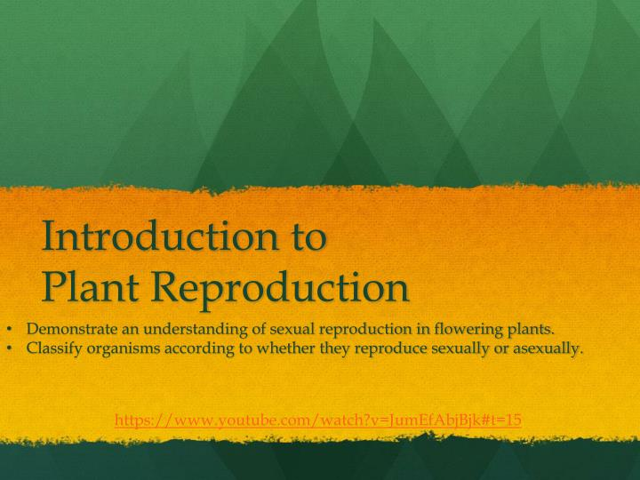 Introduction to plant reproduction