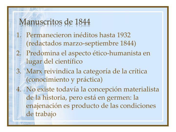 Manuscritos de 1844