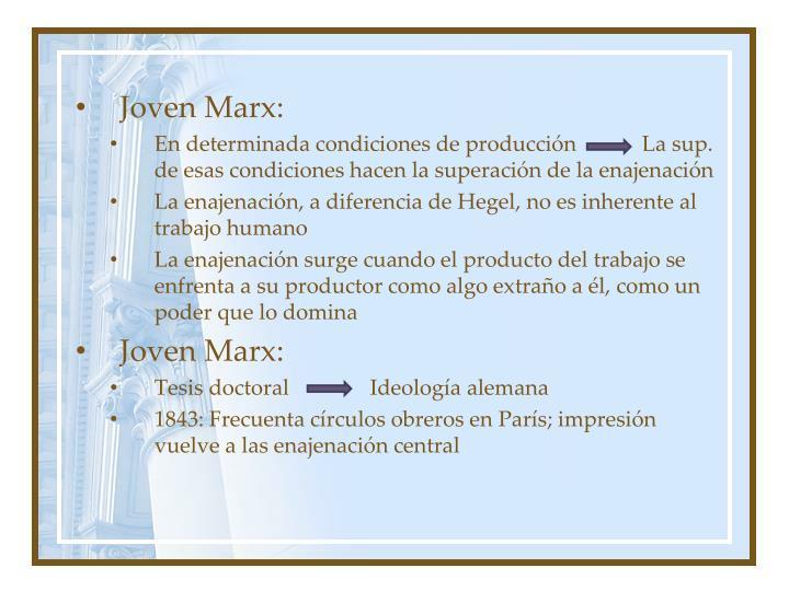 Joven Marx: