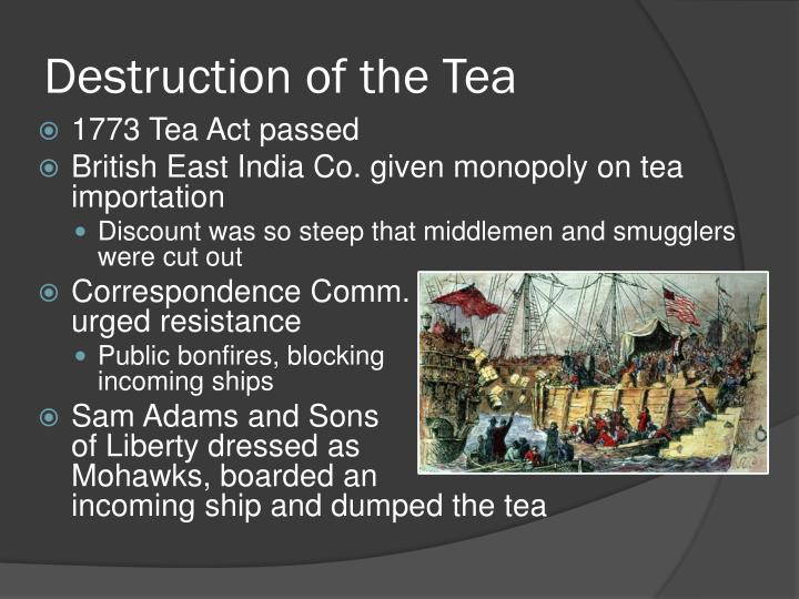 Destruction of the Tea