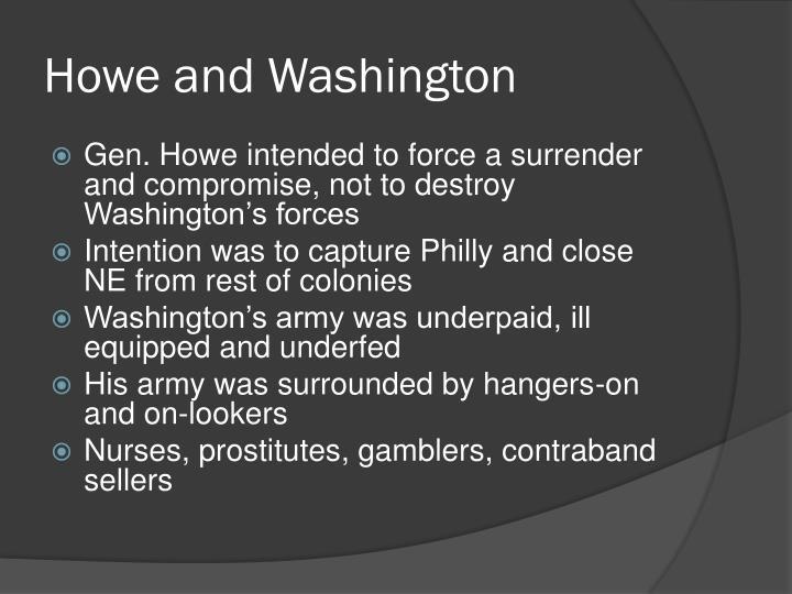 Howe and Washington