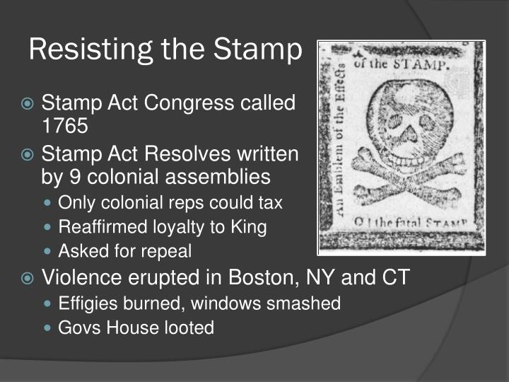 Resisting the Stamp