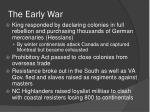 the early war