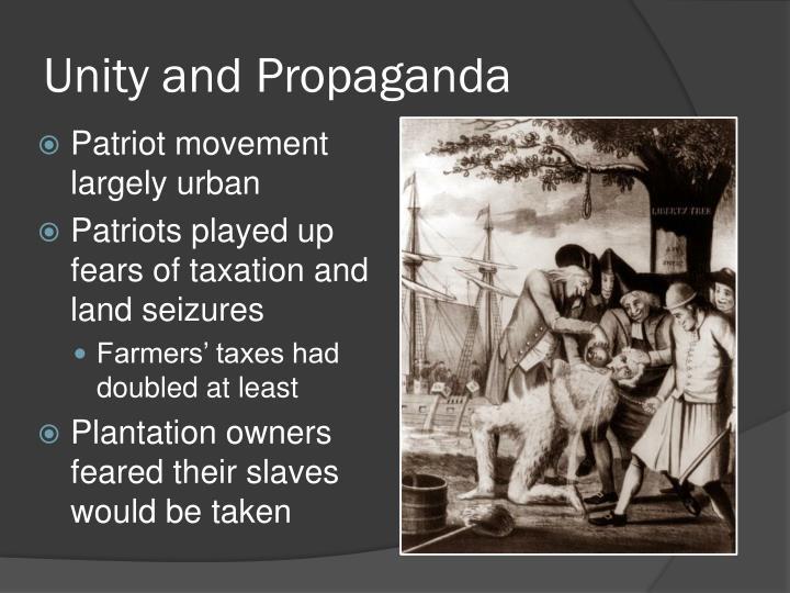 Unity and Propaganda