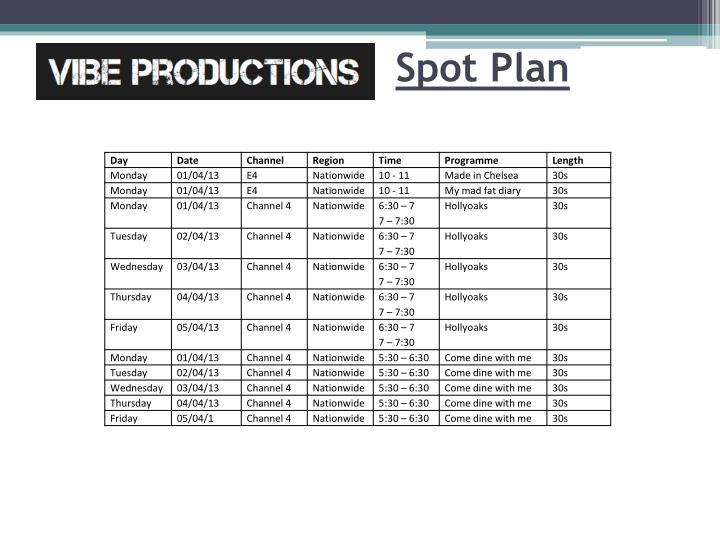 Spot Plan