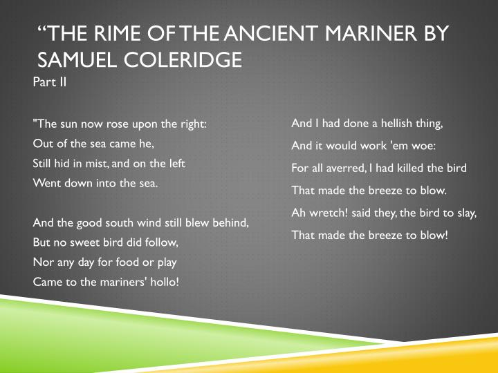 """The Rime of the Ancient mariner by Samuel Coleridge"