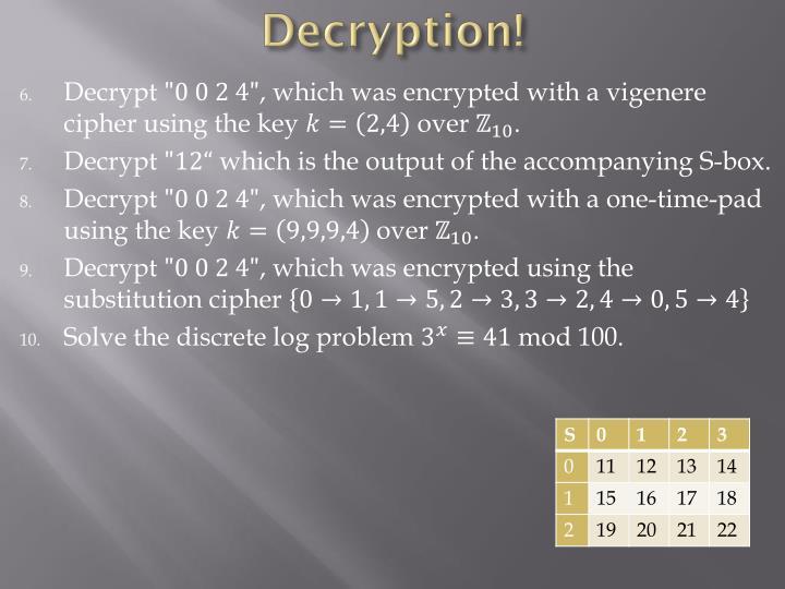 Decryption!