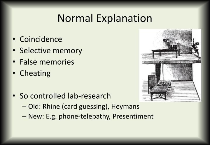 Normal Explanation