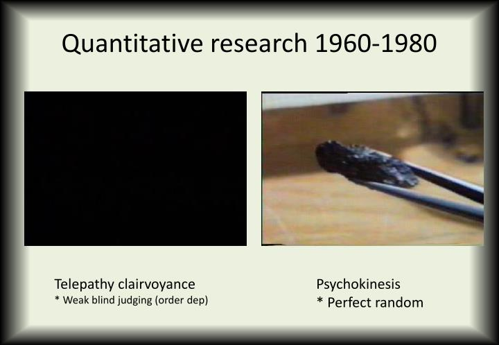 Quantitative research 1960-1980