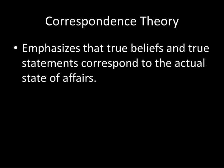 Correspondence T