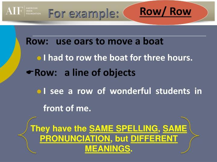 Row/ Row