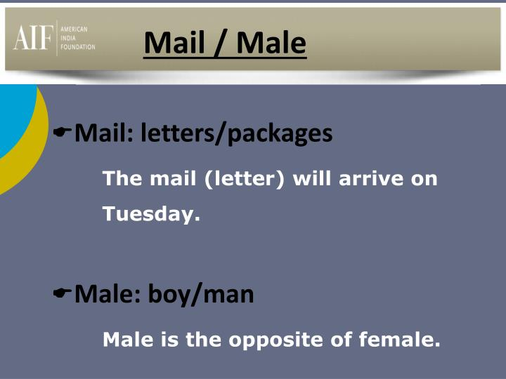 Mail / Male