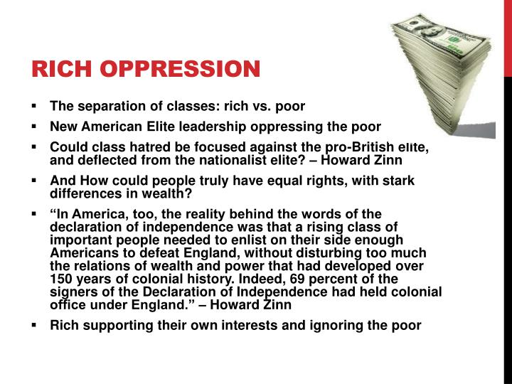 Rich Oppression